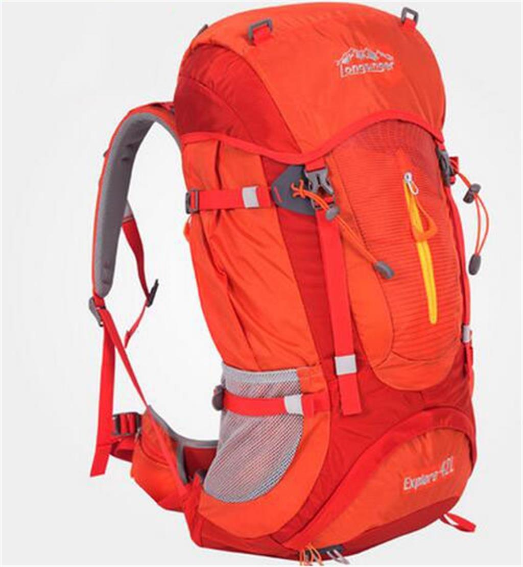 ハイキングバッグ プロのアウトドア登山リュック大容量旅行バッグ42Lハイキングのバックパックのショルダーバッグの男性と女性のキャンプ ハイキングバックパック ( 色 : オレンジ , サイズ さいず : 36-55L ) 36-55L オレンジ B07BTDH5FS