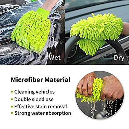 Microfiber Car Washing Towel, Chenille wash cloth with Scratch-free Lint-Free, Ultra Soft cleaning towel, Universal car cleaning drying cloth 15' x 18' Universal car cleaning drying cloth 15 x 18 HUASHIII