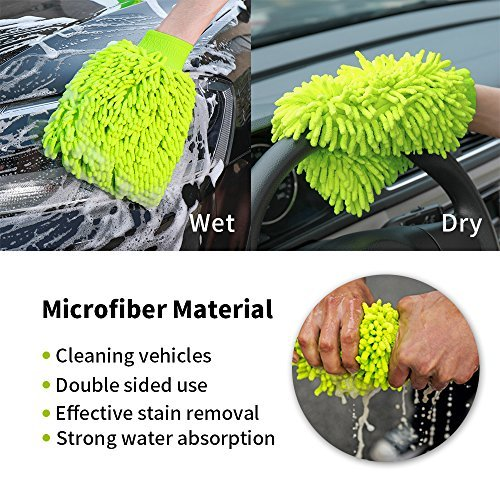 Scratch-Free Car Universal Wash Mitts Chenille Plush Microfiber Lint-Free Cleaning Gloves for car