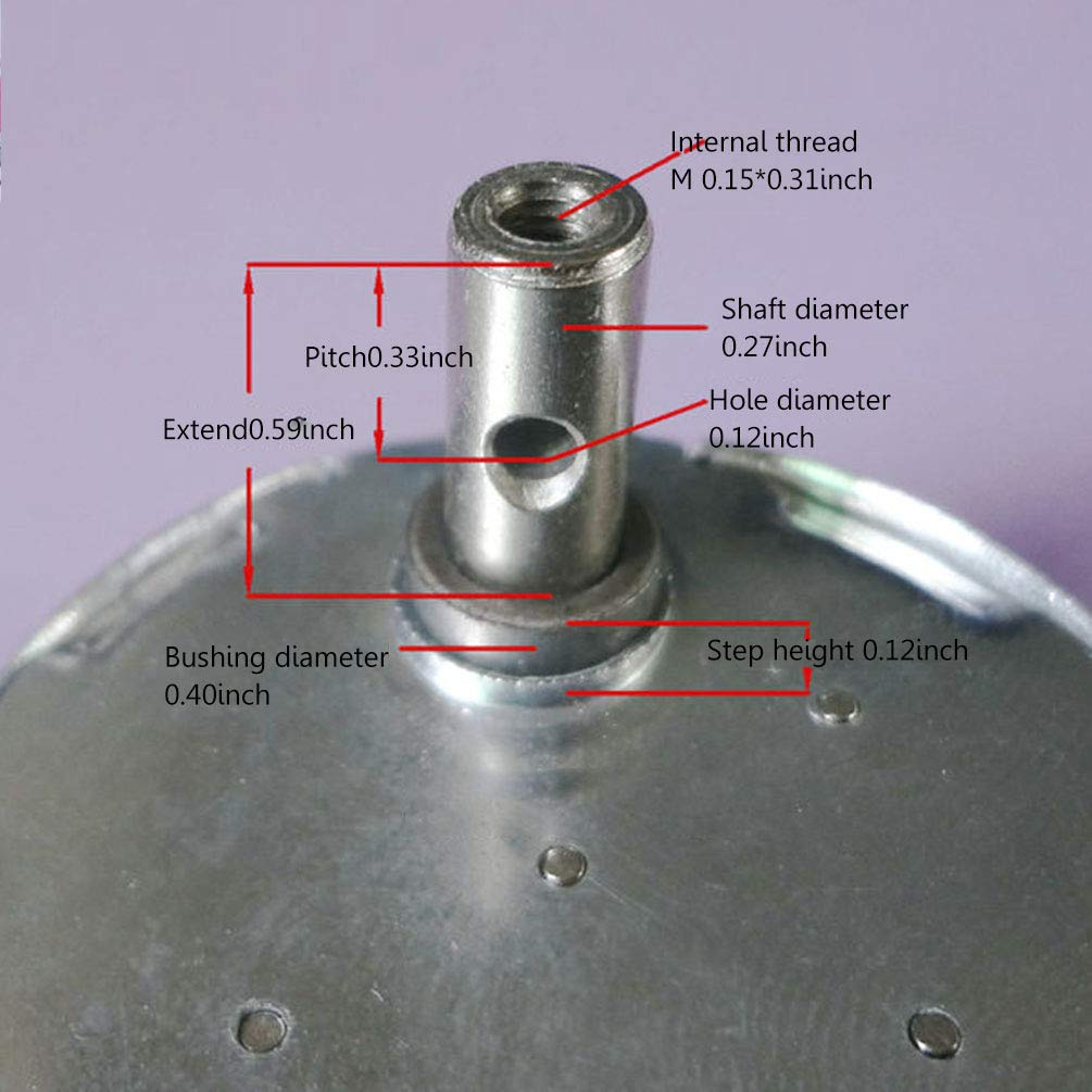 Cc 12V Moteur /à Engrenages Silencieux /à Moteur Micro /à Faible Vitesse de Moteur /Électrique /à Faible Bruit de Moteur /Électrique /à Faible Bruit