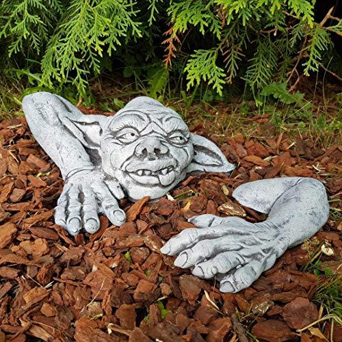 Gartendeko Lustiger Kobold Steinfigur Frostfest Deko Garten Terrasse