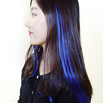 Amazon.com : Colored Highlight Hair Extensions Clip In One Piece ...