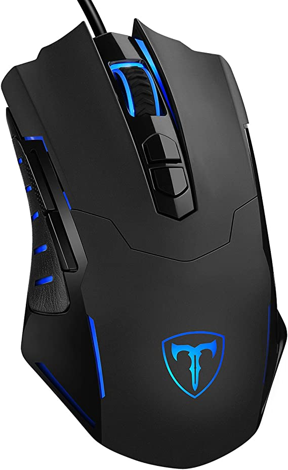 PICTEK Gaming Mouse Wired [7200 DPI] [Programmable] [Breathing Light] Ergonomic Game USB Computer Mice RGB Gamer Desktop Laptop PC Gaming Mouse