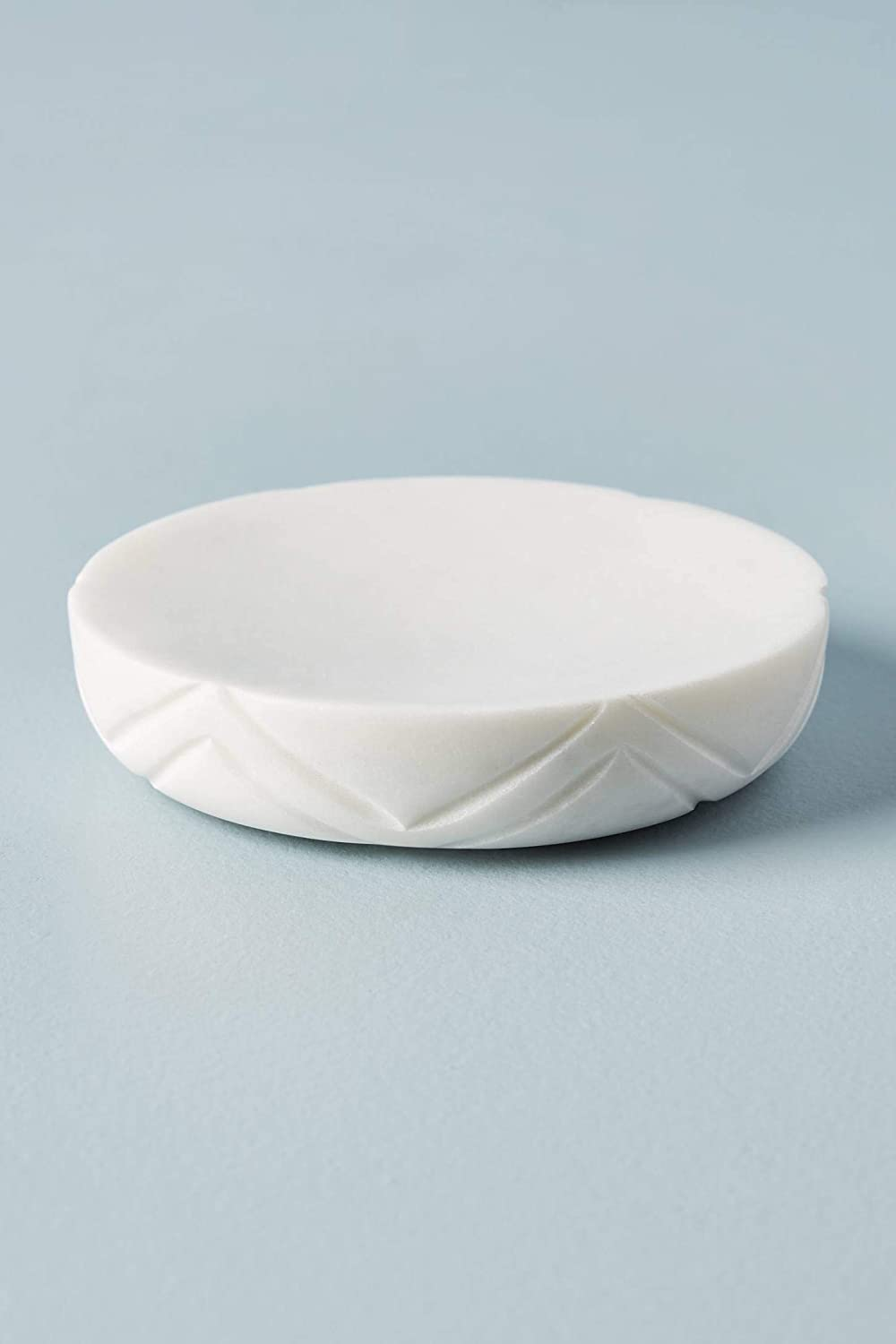 GMRS Home Carved White Marble Soap Dish, Sponge Dish Tray for Bathroom or Shower Also Great for Kitchen.