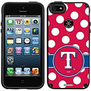Coveroo Texas Rangers Polka Dots Design Phone Case for iPhone 5/5s - Retail Packaging - Black