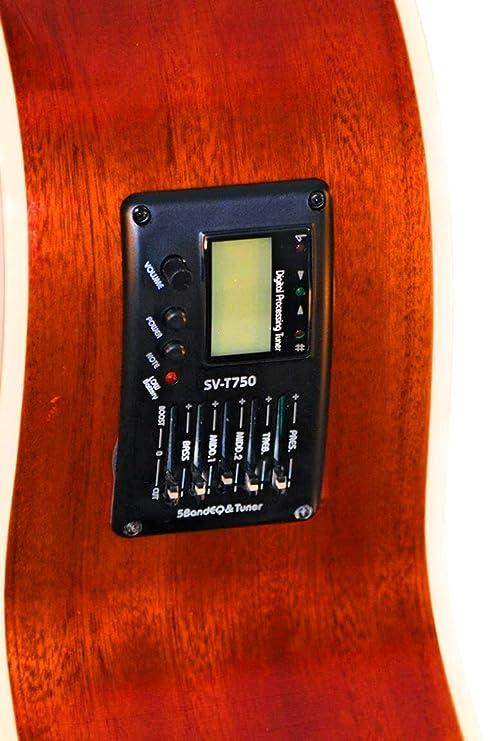 Amazon.com: 12 String Acoustic Electric Burgundy Cutaway Jumbo Guitar Combo w Gig Bag and Accesories. Guitarra Docerola 12 Cuerdas color Tinto: Musical ...