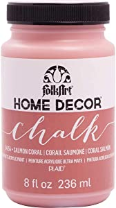 FolkArt Home Decor Chalk Furniture & Craft Paint in Assorted Colors, 8 ounce, Salmon Coral