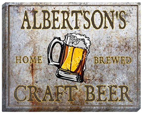 albertsons-craft-beer-stretched-canvas-sign