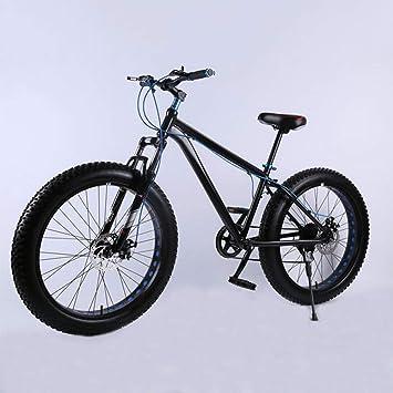 YQ 26 Pulgadas Super Ancho Neumático Motos De Nieve Amortiguador De Bicicletas De Aleación De Aluminio Velocidad Bicicleta De Montaña Frenos De Disco,C: ...