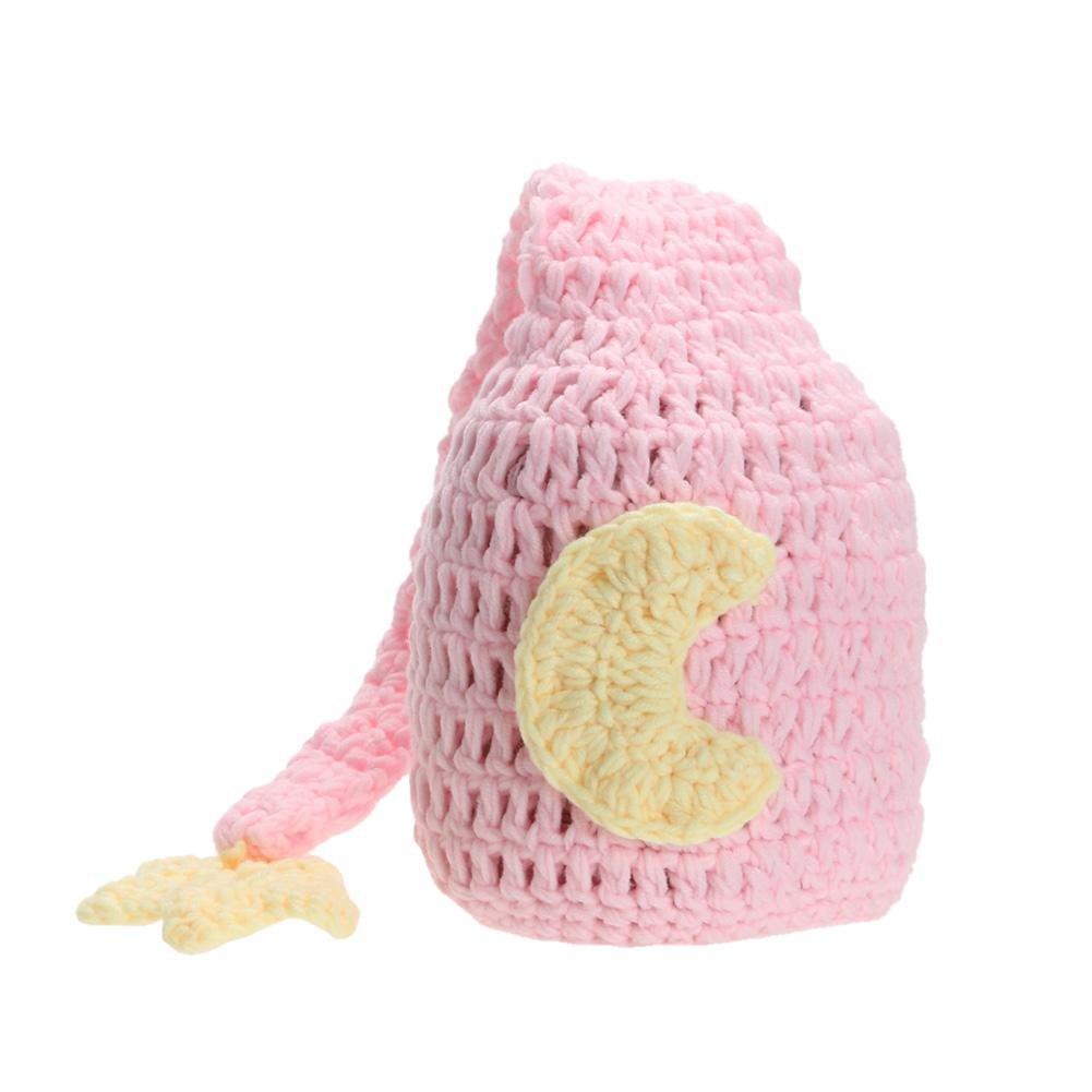 everpert bebé recién nacido niños niñas Crochet Tejido Sombrero fotografía Prop Beanie Cap Pink 0-2M