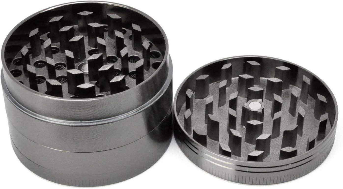 Metal Crusher Kitchen Herb Spice Grinder Tabacco Milling Tool Black 40mm Dia