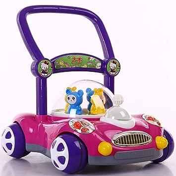 ZLMI La Música del Carro del Juguete De Los Niños del Walker del Bebé con La Luz Ajustable para El Bebé DE 1-3 Años,Purple: Amazon.es: Deportes y aire libre