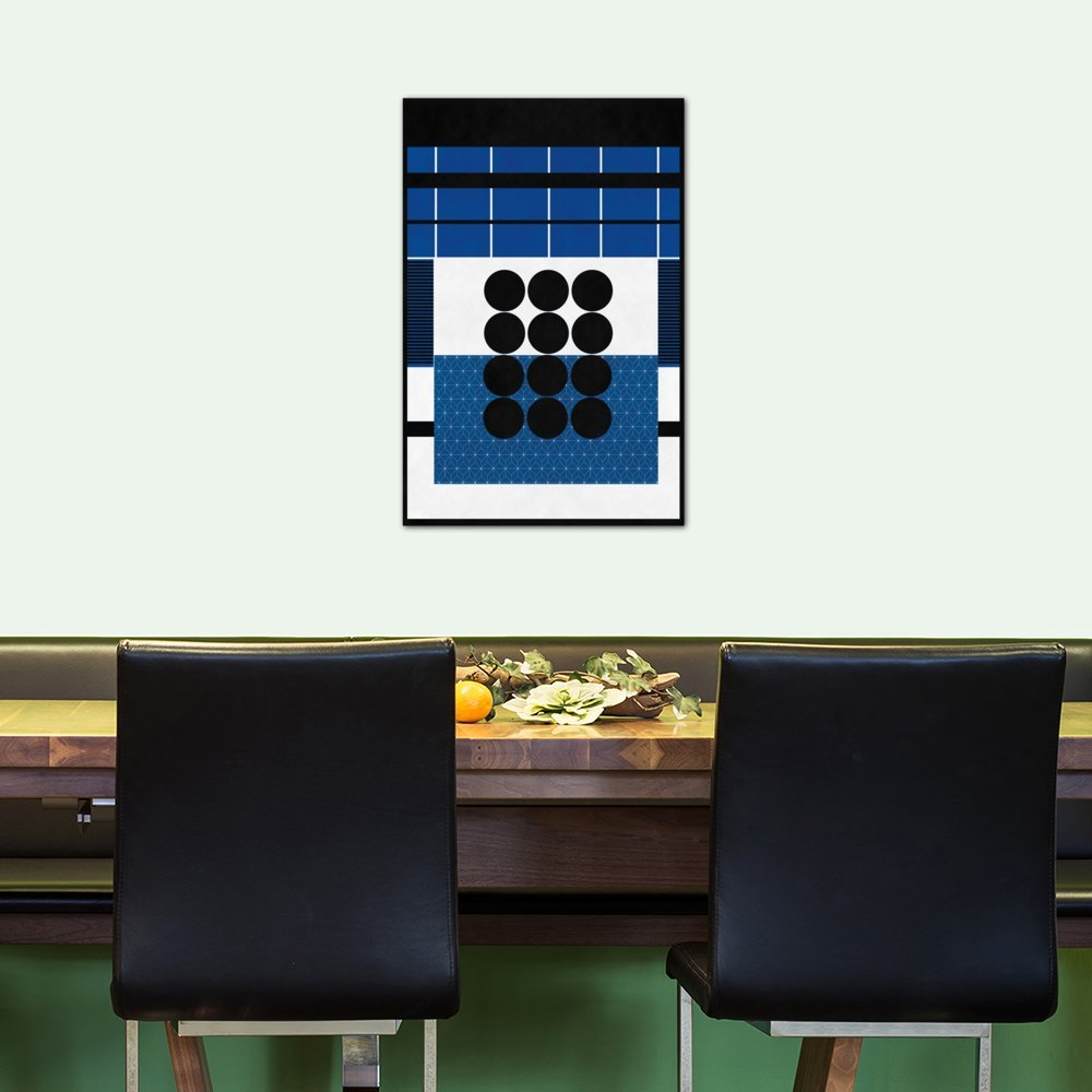 A Study in Geometry Canvas Print by Fabrizio 60 by 40//0.75 Deep iCanvasART 3 Piece Modern Art