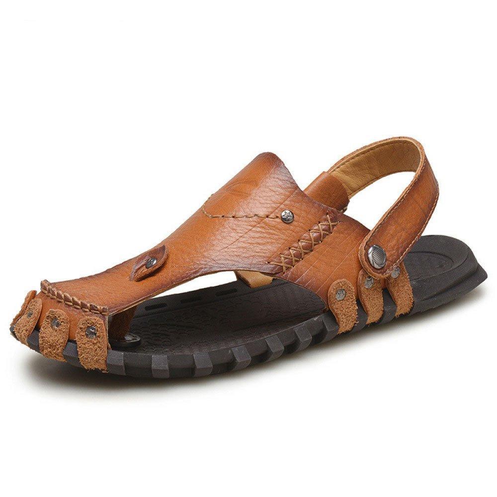 Sandalias para Hombres Clip Toe Baotou Beach Shoes Zapatillas Impermeables Y Transpirables 42 EU|Khaki