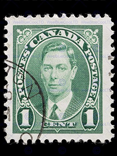 12 X 16 INCH / 30 X 40 CMS GEORGE VI STAMP VINTAGE POSTAGE PHOTO FINE ART PRINT POSTER HOME DECOR PICTURE BMP462B