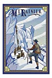 Mt Rainier, Washington - Ice Climbers (20x30 Premium 1000 Piece Jigsaw Puzzle, Made in USA!)