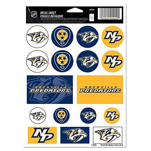 WinCraft NHL Nashville Predators Vinyl Sticker Sheet, 5 x 7
