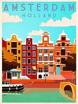 Amazon.com: Viaje Amsterdam Holanda Países Bajos Canal ...