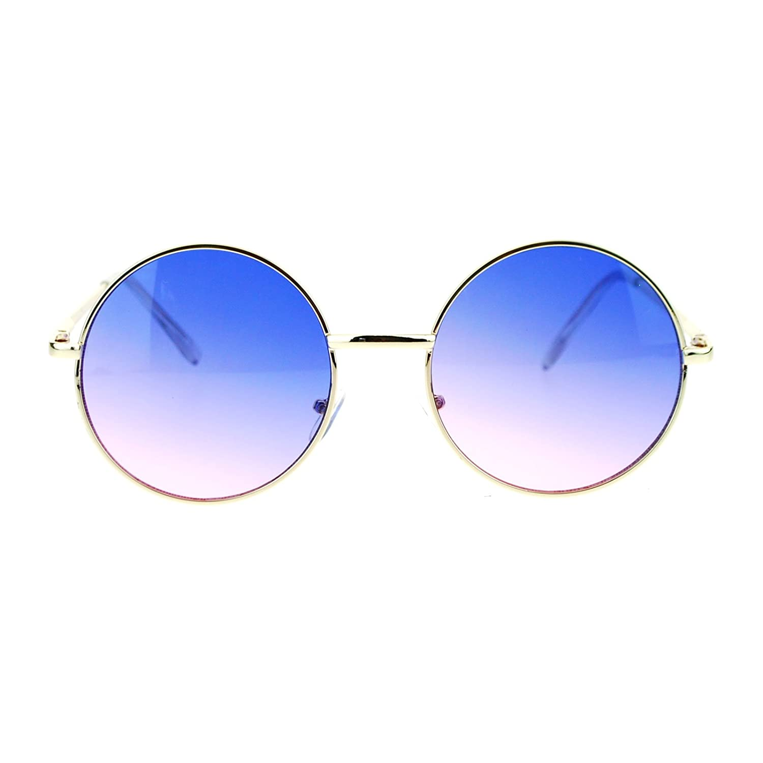 57b3308f23fe Online Cheap wholesale 2 Tone Color Lens Retro Vintage Style Round Circle  Hippie Groovy Sunglasses Sunglasses Suppliers