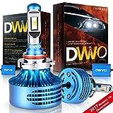 DWVO 9005 HB3 LED Headlight Bulbs, 6.5K 16000Lm Philips Chip Conversion Kit Hi & Lo Beam Super Bright IP68 Waterproof