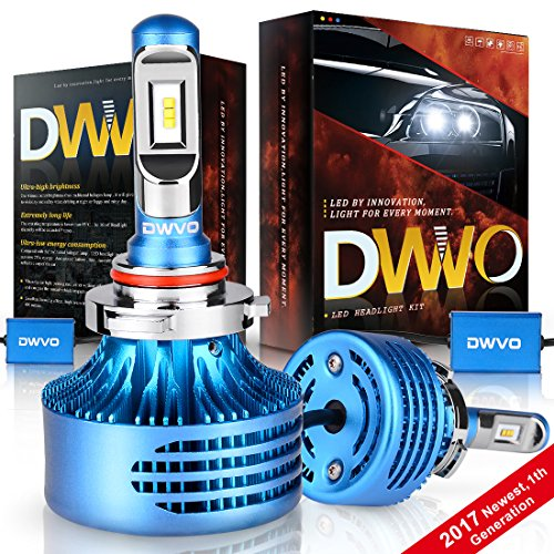 DWVO 9005 HB3 LED Headlight Bulbs, 6.5K 16000Lm Philips Chip Conversion Kit Hi & Lo Beam Super Bright IP68 Waterproof