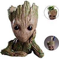 Baby Model Flowerpot - Baby Groot Pen Holder,Action Figure Model Toy Penholder PVC Flower Pot,Suitable for Green Succulent Plants And Birthday Gifts