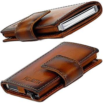 449dc37301411 Figuretta Premium Leder RFID Geldbörse London - Praktisches Smart Wallet  mit Aluminium Kreditkarten-Etui und