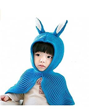 c7a020cb305 Image Unavailable. Image not available for. Colour  SevenPanda Baby  Children s Autumn and Winter Scarves Knitting Hat Rabbit Ears Shawl ...