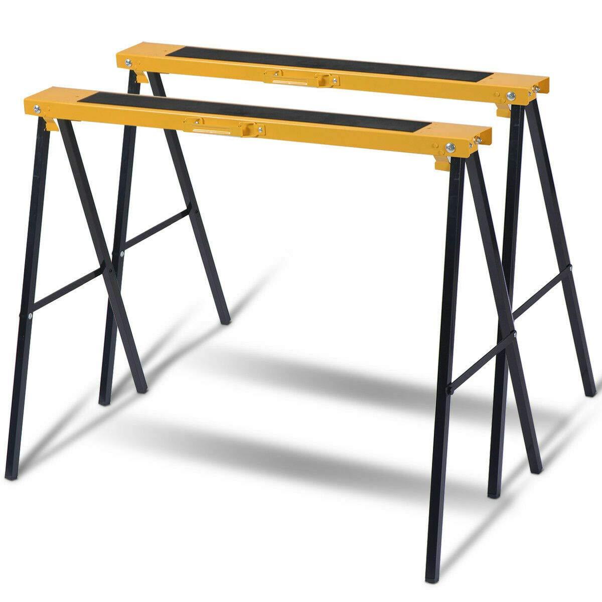 Folding legs, Pack Heavy Duty Saw Horse Steel Folding Legs Sawhorse Capacity Each by Antik shop