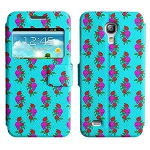 LEOCASE Cráneo y Rose Funda Carcasa Cuero Tapa Case Para Samsung Galaxy S4 Mini I9190 No.1001995