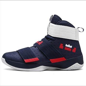 Zapatos de baloncesto antichoque de choque para hombres Modelos de pareja  Zapatos de baloncesto de ayuda 66e2e506cee4