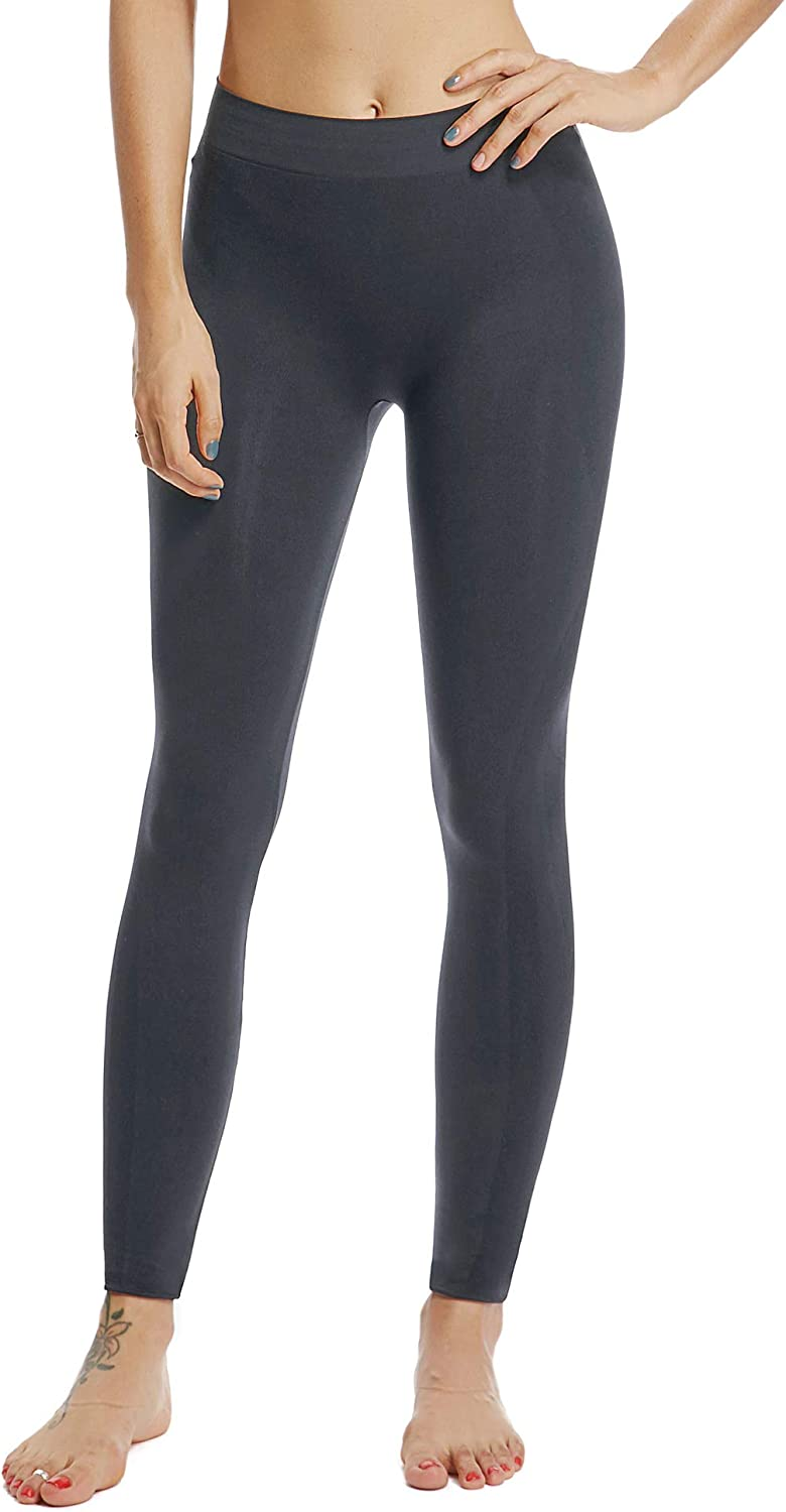 HOFISH Womens Seamless Maternity Pregnant Leggings Active Tights for Pregnancy Over the Belly