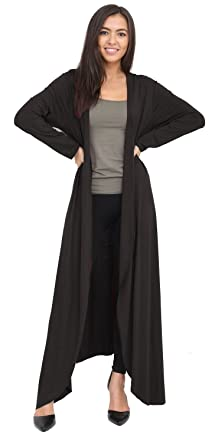 New Women's Ladies Long Sleeve Floaty Maxi Long Open Boyfriend ...