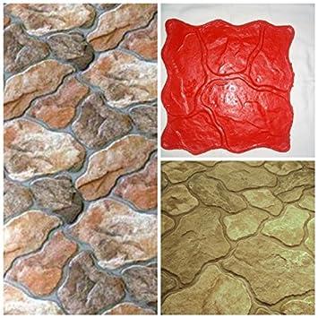 Sabina alfombrilla de - sello, textura de pizarra de piedra hormigón, cemento Imprint alfombrilla de diseño de textura PU estampado: Amazon.es: Juguetes y ...