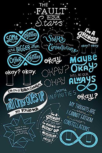 Empire Merchandising 659033 The Fault in Our Stars - Das Schicksal Ist EIN Mieser Verräter - Typographic Poster 61 x 91.5 cm