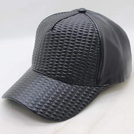 FDBQC Sombrero De Papá De Cuadros Escoceses De Cuero Negro Gorras ...