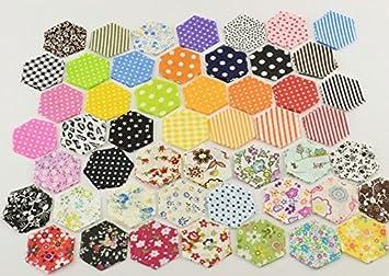 200 Telas hexagonales para flores, cojines, toallas, banderines, vestidos, guirnaldas,