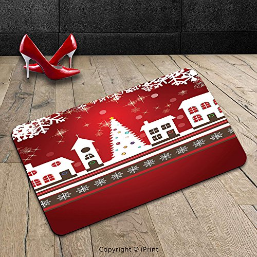 custom-machine-washable-door-mat-christmas-decorations-winter-holidays-themed-gingerbread-houses-mer