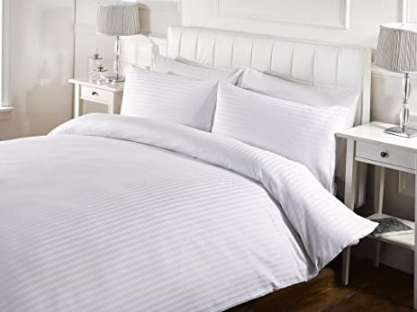 vivente bedding home satin count duvet covers cotton tc grosvenor striped rich suite set buy white thread with slumber matching pillowcases cover