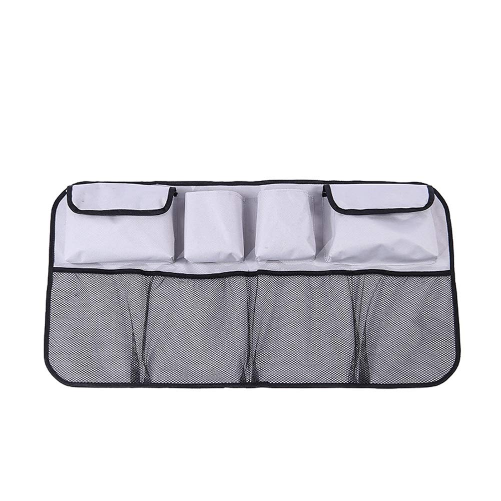 MYLJX Car Boot Organiser, Oxford Cloth Car Trunk Storage Organizer Bag Universal Multi-Pockets Auto Back Seat Stowing Tidying Interiorwith Adjustable Straps to Fit All Vehicles-1