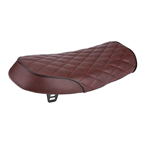 Back To Search Resultshome Motorcycle Pu Leather Vintage Cafe Racer Seat Flat Saddle Cushion For Honda Cg125 Gn Cg Black