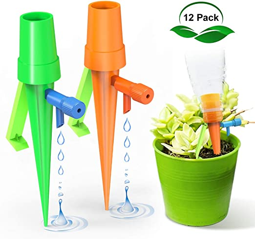 Plant Spikes,Self Irrigation,Plant Watering Globes 6 Pack Terracotta Self Water Stakes Watering Drip Automatic Drip Tools Watering Spikes Garden Self Watering Tools Plant Watering Stakes