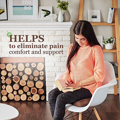 Womby Orthopedic Memory Foam Seat Cushion (U-Type) by Orthopedic Coccyx Pillow for Office Chair, Car, Plane – Best Design to Relieve Back, Sciatica and Tailbone Pain – Non-Slip, Washable Cover by Womby (Image #3)