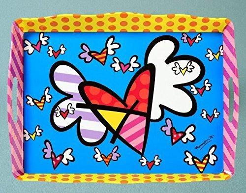 Romero Britto Flying Hearts Melamine Tray by Romero Britto ()