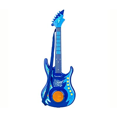 Mozlly Blue Guitar Kids Music Instrument - Instrument Theme - Item #101333: Toys & Games