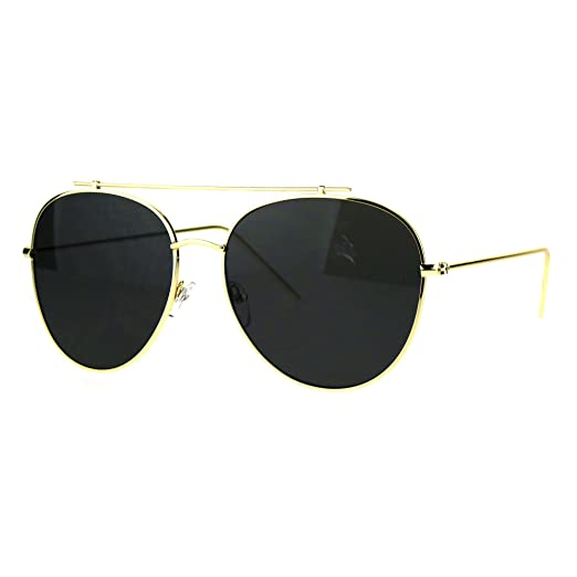 41a60581710 Flat Top Bar Aviator Sunglasses Oversized Fashion Aviators UV400 Gold