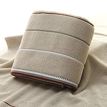 QUEENS Toalla suave acolchado algodón absorbente Stripes toallas,B,Toalla de baño Toalla de