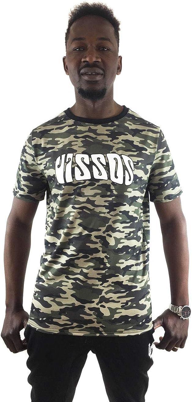 UISSOS Camiseta Manga Corta de Chico con Estampado Camuflaje (L): Amazon.es: Ropa y accesorios