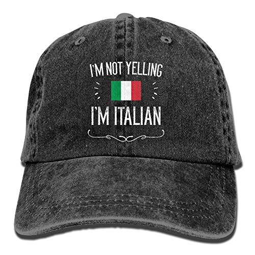 (I'm Not Yelling I'm Italian Unisex Adult Adjustable Trucker Dad)