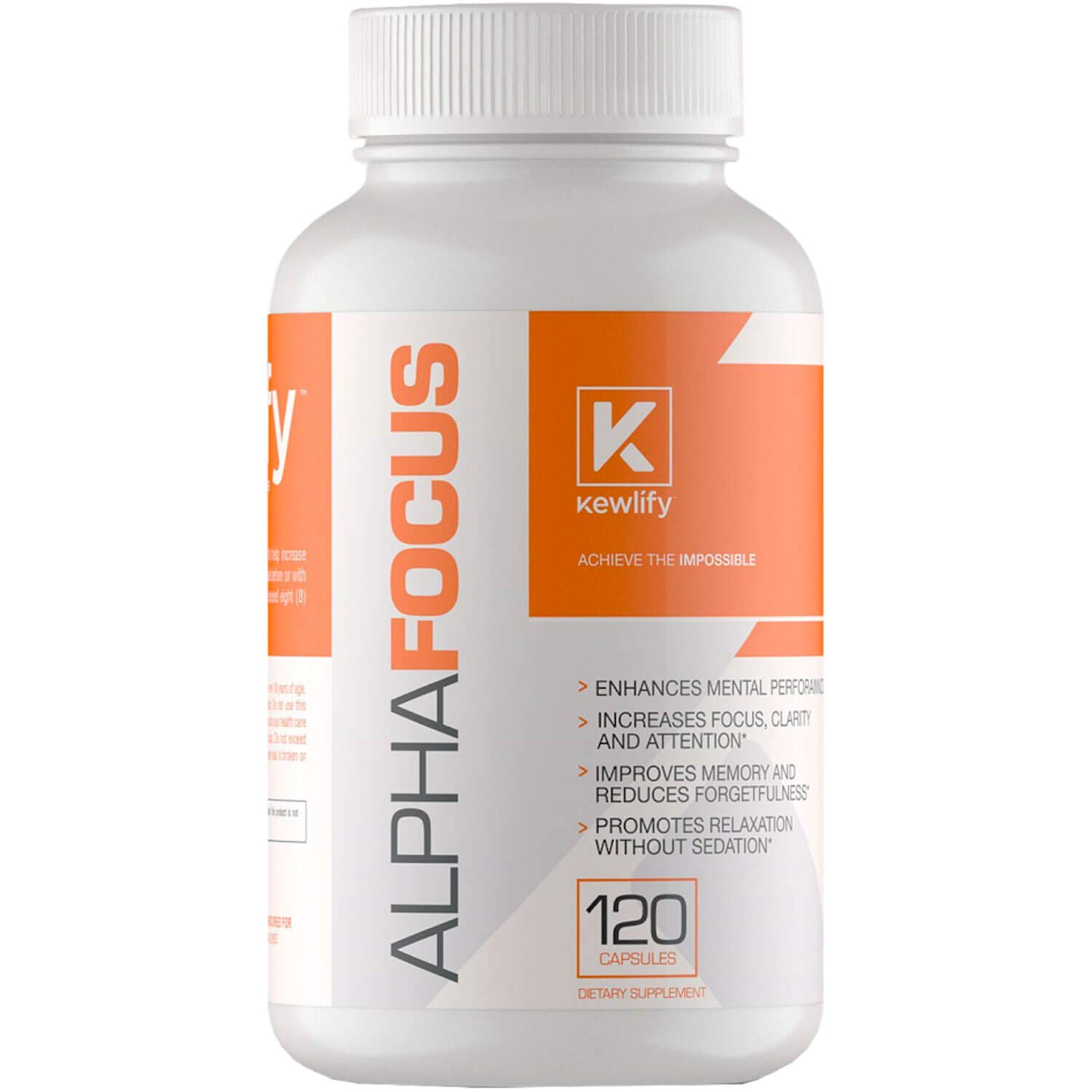Kewlify- Alpha Focus- Boosts Focus, Memory, Clarity & Cognitive Function with Ginkgo Biloba, Rhodiola Rosea Extract, DMAE, Extra Strength Nootropic,